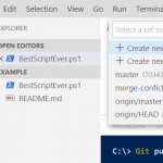 Start using GIT for PowerShell part 2: Branches and pull requests
