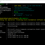 Automate Azure update management scheduling with PowerShell